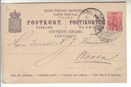 Finland Suomi 1899 Postal Stationery Postkort UPU Finlande Finlandia - Finlande