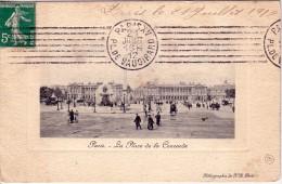 PARIS XV - PL.DE VAUGIRARD - LE 21-7-1912 - SEMEUSE 5c VERTE. - Oblitérations Mécaniques (flammes)