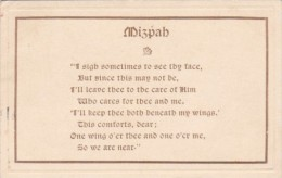 Motto Card Mizpah 1921 - Philosophy