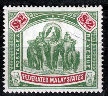 FEDERATED MALAY STATES  1904   $ 2 VERY FINE LIGHTLY CANCELLED - Federated Malay States