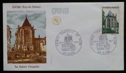 FDC 1971 - YT N°1683 - SAINTE CHAPELLE DE RIOM - 1970-1979