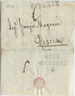 1834 LETTERA COMPLETA DI TESTO DA FIRENZE 9 FEBBRAIO 1834 A PESCIA TASSAZIONE 2 OTTIMA QUALITÀ (A673) - 1. ...-1850 Prefilatelia