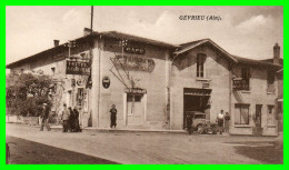 - GEVRIEU (X).(Ain)..Restaurant Café Hôtel De La Riviére Garage Essence (recto Verso) - France