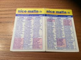 """Calendrier 1993 """"nice-matin (journal)"""" (11,2x15cm) - Formato Piccolo : 1991-00"""