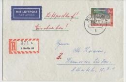 "GOOD BERLIN "" REGISTERED "" Postal Cover 1964 - Good Stamped: University - [5] Berlin"