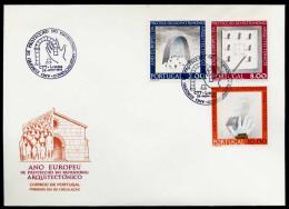37509) Portugal - Michel 1298 / 1300 - FDC - Denkmalschutzjahr 75 - FDC