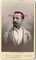 CDV Identifiée Portrait De Joseph DUCURTIL,bel Homme élégant-mode-photo Martinetto à Grenoble - Photographs