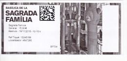 Spain , Barcelona   , Ticket  From Basilica Sagrada Familia , 2015 - Tickets - Vouchers