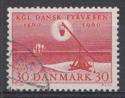 Danemark 1960  Mi.nr. 383  400.Jahre Seefeuerwesen  Oblitérés / Used / Gest. - Danemark