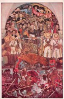 "03909 ""MEXICO-PALACIO NACIONAL-THE INDEPENDENCE WAR OF MEXICO 1810"" AFFRESCO MURALES DI DIEGO RIVERA. CART. NON  SPED. - Messico"