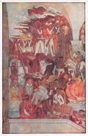 """03910 """"MEXICO-PALACIO NACIONAL-THE EXECUTION OF MAXIMILIAN IN QUERETARO 1867""""  MURALES DI DIEGO RIVERA. CART NON  SPED - Messico"""