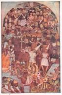 """03911 """"MEXICO-PALACIO NACIONAL-THE REVOLUTION OF MADERO 1910"""" AFFRESCO  MURALES DI DIEGO RIVERA. CART NON  SPED - Messico"""