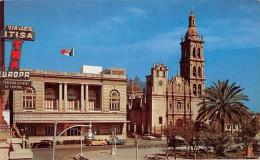 """03913 """"MEXICO - LE CATEDRAL Y EL CASINO - MONTERREY - NUEVO LEON"""" AUTO '50, TWA. CART. SPED. 1955 - Messico"""