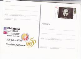 1995 GERMANY Postal STATIONERY CARD Illus 100th ANNIV GERMAN FILM, METROPOLIS MOVIE Cinema Stamps Cover - Cinema