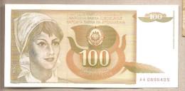 Yugoslavia - Banconota Non Circolata FdS Da 100 Dinari P-105 - 1990 - Yugoslavia