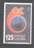 Andorre Espagnol: Yvert N°202**; MNH; Croix Rouge - Neufs