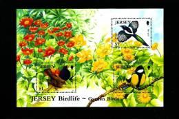 JERSEY - 2007  GARDEN BIRDS (3)  MS   MINT NH - Jersey