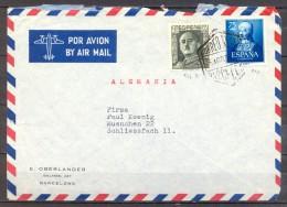 1951 , BARCELONA , SOBRE CIRCULADO A MUNICH , CORREO AÉREO , ISABEL LA CATÓLICA , ED. 1093 - 1931-Hoy: 2ª República - ... Juan Carlos I