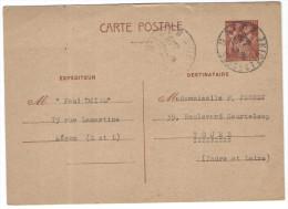 FRANCIA - France - 1941 - 80c - Postkaart - Carte Postale - Post Card - Intero Postale - Entier Postal - Postal Stati... - Storia Postale