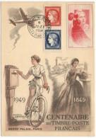 FRANCIA - France - 1949 - Centenaire Du Timbre Poste Français - Maximum Card - Paris - FDC - 1940-49