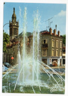 NANCY--Le Jet D'eau De L'avenue Boffrand Et La Rue Jeanne D'Arc,2ème Plan église St Joseph Cpsm 15 X 10 N°87W éd Estel - Nancy