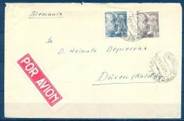 1953 , CÓRDOBA , SOBRE CIRCULADO ENTRE POZOBLANCO Y DÜREN. - 1931-Hoy: 2ª República - ... Juan Carlos I
