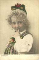 NORWAY - YOUNG GIRL - HALLINGDAL - FOLK COSTUME.  (COST - Trachten