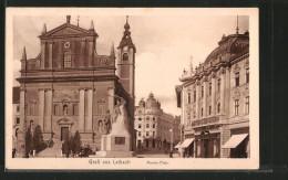 CPA Ljubljana / Laibach, Marienplatz Avec Franziskanerkirche - Slowenien