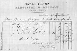 1889 BADIA POLESINE ROVIGO - FRATELLI PONTARA NEGOZIANTI DI  LEGNAME - Italia