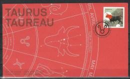 Canada. Scott # 2450 FDC. Sign Of Zodiac Taurus  2011 - Astrology