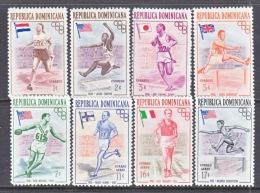 DOMINICAN  REPUBLIC  474-8, C97-99   *  OLYMPICS  FLAGS - Dominican Republic