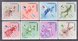 DOMINICAN  REPUBLIC  478-83, C 100-02   *  OLYMPICS  FLAGS - Dominican Republic