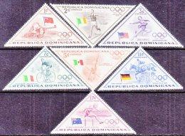 DOMINICAN  REPUBLIC  484- 8, C+   *  OLYMPICS  FLAGS  TRIANGLES - Dominican Republic