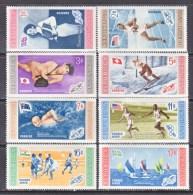 DOMINICAN  REPUBLIC  501-5, C 106-8   *  OLYMPICS  FLAGS - Dominican Republic