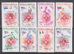 DOMINICAN  REPUBLIC  B 1-5, CB 1-3   *  OLYMPICS  FLAGS  RED  CROSS - Dominican Republic