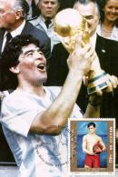 MEXIQUE    Carte Maxi     Cup 1986 Football  Soccer  Fussball Diego Maradona - Coupe Du Monde