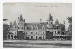 (RECTO / VERSO) ENVIRONS DE BREZOLLES EN 1915 - CHATEAU D' ESCORPAIN - BEAU CACHET- CPA - Autres Communes