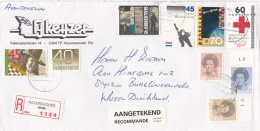 Netherlands Registered Cover Posted Hazerswoude 1988 (L11) - Period 1980-... (Beatrix)