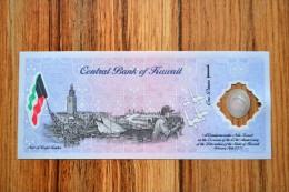 Kuwait 1 Dinars 2001. P-CS2 , UNC, 1PCS, Middle East, Polymer, Commemorative - Kuwait