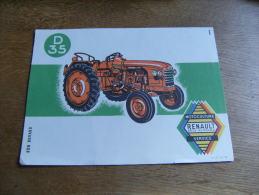 Buvard Buvards  Tracteur Renault D 35 - Buvards, Protège-cahiers Illustrés