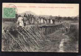 AFRIQUE OCCIDENTALE GUINEE CHAUSSEE DE DOUNE ENTRE LE BAFING ET DOUNE BELLE ANIMATION COLLECTION FORTIER - Frans Guinee