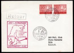 A3718) Schweden Sweden Erstflugbrief Stockholm-Riga-Moskau 9.5.1956 - Briefe U. Dokumente