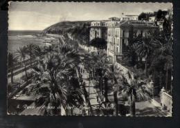 N2130 STORIA POSTALE, ANNULLO DI PREMENO 1953 IN PROV. DI NOVARA SU CARTOLINA SAN REMO, CORSO IMPERATRICE - 6. 1946-.. Repubblica