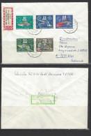 DDR - RECO-Beleg Mi-Nr. 2176 + 2177 + 2178 + 2179 + 2181 Zierfische - [6] Democratic Republic