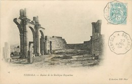 CPA Tébessa-Ruines De La Basilique Byzantine    L2027 - Tebessa