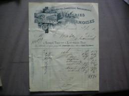 REIMS LORIN,TRICOT & BATAILLE FILS GALERIES REMOISES NOUVEAUTES CONFECTION AMEUBLEMENT RUE DE L'ARBALETE FACTURE DE 1910 - France
