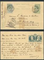 FA568 Entier De Bruges Gare à St Beatenberg Suisse 1905 Affranchissement Complémentaire - Stamped Stationery