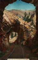 CPA  -  Etats-Unis  -  Colorado -  Double Tunnel EAGLE RIVER CANON - Etats-Unis