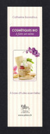 Marque Page. Bookmark.    Cosmétiques Bio.   Editions Chariot D'Or - Marque-Pages