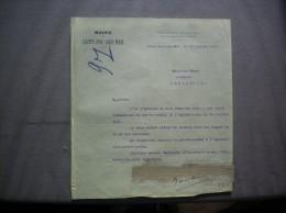 SAINT-POL SUR MER NORD MAIRIE LE MAIRE RAMBAUX COURRIER DU 20 JUILLET 1921 - Historische Dokumente